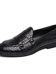 Недорогие -Муж. Официальная обувь Микроволокно Весна лето / Наступила зима Деловые / На каждый день Мокасины и Свитер Дышащий Черный