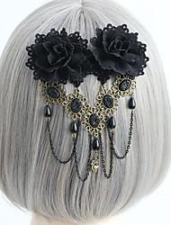 Недорогие -Жен. лакомство Винтаж модный Резина Ткань Сплав Заколки для волос Halloween Для клуба