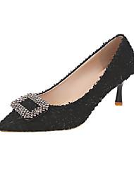 abordables -Femme Chaussures à Talons Kitten Heel Bout pointu Polyuréthane Simple Automne Noir / Bleu / Beige