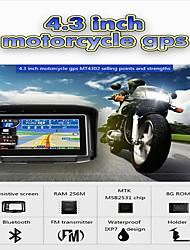 Недорогие -4,3-дюймовый водонепроницаемый ipx7 мотоцикл GPS-навигатор с GPS-навигатором с FM-Bluetooth 8G Flash Prolech Автомобильный GPS