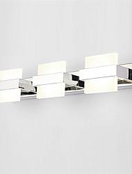 Недорогие -50см 18Вт современные светодиодные зеркала для спальни, светильники для ванной, настенные светильники из нержавеющей и акриловой краски для макияжа