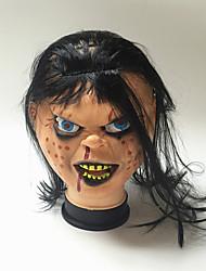 お買い得  -1ピースハロウィンテロリストデーモンヘッドゾンビゴーストマスクマスクA顔Aスプーフィングバッドボーイオブチャッキー怖いマスク
