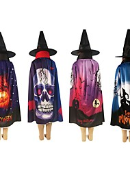 Недорогие -хэллоуин дети косплей плащ подарок плащ ab носить длинный паллет взрослый капюшон плащ костюм смерть толстовка плащ дьявол театр опора
