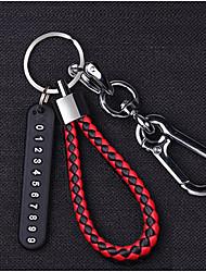 Недорогие -ключи от машины кольцо кулон анти-потерянный номер телефона карты плетеные веревки брелок мужчины и женщины личность творческий