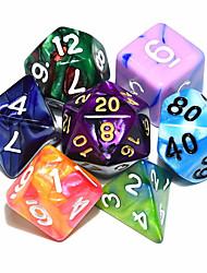 Недорогие -Подземелья и Драконы игра 15-20mm d4 d6 d8 d10 d12 d20 кости цвет случайный (6pcs/set)