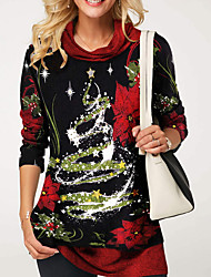 abordables -Tee-shirt Femme, Fleur Noir