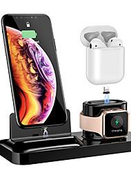 Недорогие -Магнитная абсорбция flomi 3-в-1 применима к аэродромам2 iphone iwatch4 Кронштейн для беспроводной зарядки
