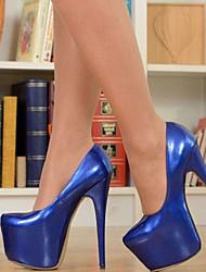 Недорогие -Жен. Обувь на каблуках На шпильке Круглый носок Лакированная кожа Весна & осень Тёмно-синий / Для вечеринки / ужина