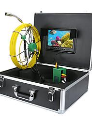 Недорогие -труба канализационная труба инспекционная камера 30 м ip68 водосточная труба канализационная система камера 9lcd dvr 1000tvl камера с 6 Вт светодиодные фонари 8 ГБ TF карта