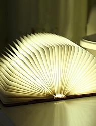 Недорогие -1шт светодиодный ночной свет творческий книга в форме теплого белого USB <= 36V>