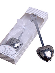 Недорогие -нержавеющая сталь в форме сердца чай для заварки ложка ситечко крутой ручкой инструмент для душа