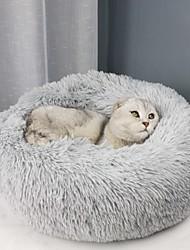 Недорогие -Собаки Коты Матрас Кровати Одеяла Коврики и подушки Ткань Плюш Мягкий Прочный Однотонный Верблюжий Винный Белый