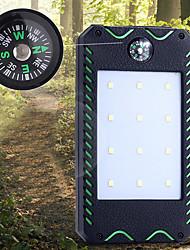 Недорогие -Солнечная батарея излучатели Повседневное использование Холодный белый Цвет источника света Черный / зеленый Черный / оранжевый