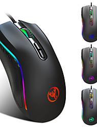 billige -KUPENG A869hongbian USB-kabel Optisk Gaming Mus / ergonomisk mus RGB Breathing Light 1000/1200/2400/3200/4800/7200 dpi 6 justerbare DPI nivåer 6 pcs Keys 7 programmerbare nøkler