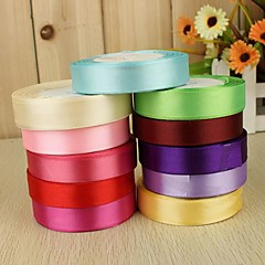 cheap Wedding Ribbons-Solid Color Satin Wedding Ribbons Piece/Set Satin Ribbon Decorate favor holder Decorate gift box
