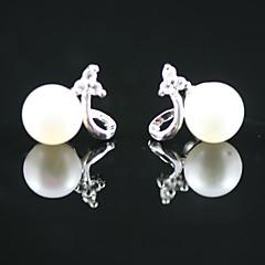 お買い得  イヤリング-925純銀♥淡水真珠♥ウェディング♥ピアス