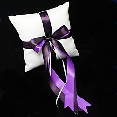 Wedding Ring Pillow With Double Ribbons