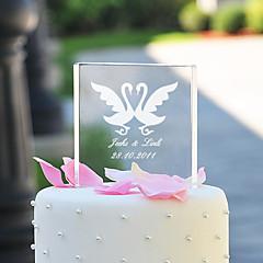 Kakepynt Personalisert Klassisk Par / Hjerter Krystall Bryllup / Bridal Shower / Jubileum Hage Tema / Klassisk Tema Gaveeske