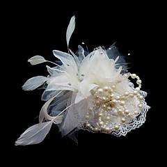 ieftine Accesorii Petrecere-Cristal / Pană / Material Textil Diademe / Palarioare / Flori cu 1 Nuntă / Ocazie specială / Party / Seara Diadema