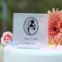 billige Kakedekorasjoner-kake toppers personlig krystall med bruden portrett kake topper