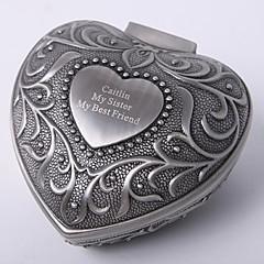 tanie Prezenty dla druhen-spersonalizowany vintage tutania w kształcie serca biżuteria pudełko w eleganckim stylu