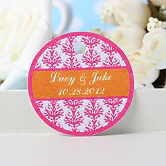 billige Klistremerker og etiketter-personlig favorithjelp - rosa blomstertrykk (sett med 36) bryllupsfavorier