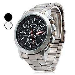 ieftine Ceasuri Bărbați-Bărbați Ceas de Mână Quartz Aliaj Bandă Argint Alb Negru