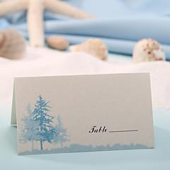 levne Jmenovky a stojánky-místo karty - modrý strom (sada 12) držitelé paměťových karet svatební hostina