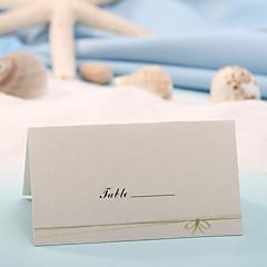 levne Jmenovky a stojánky-místo karta - zelený luk (sada 12) držitelé paměťových karet svatební hostina