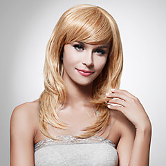 cheap Wigs & Hair Pieces-Synthetic Wig Women's Straight / Curly Brown Layered Haircut Synthetic Hair 16 inch Designs Brown Wig Long / Mid Length Free Part / Capless