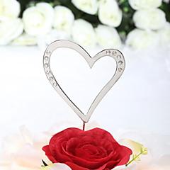billige Kakedekorasjoner-Kakepynt Klassisk Tema Hjerter Bryllup jubileum Bursdag Utdrikningslag 15- og 16-års bursdag med Rhinsten OPP
