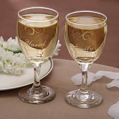 wineglass clássicos personalizados (conjunto de 2)
