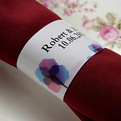 gepersonaliseerde papieren servetring - kleurrijke print (set van 50) huwelijksreceptie