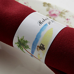 cheap Wedding Napkins-Material Wedding Napkins - 50pcs Others Napkin Rings Wedding Anniversary Party / Evening Engagement Party Bridal Shower Beach Theme