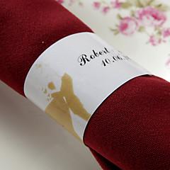 gepersonaliseerde papieren servetring - sakura (set van 50) huwelijksreceptie