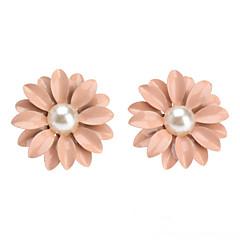 お買い得  ファッションピアス・イヤリング-女性用 真珠 スタッドピアス - 真珠 フラワー, デイジー かわいいスタイル ピンク 用途 日常