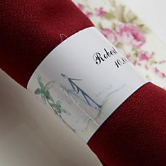 cheap Wedding Napkins-Personalized Paper Napkin Ring - Beach Theme (Set of 50) Wedding Reception
