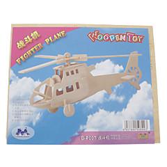tanie Gry i puzzle-Zabawki 3D Drewniane puzzle Myśliwiec Helikopter Zabawa Drewno Klasyczny Dla chłopców Dla dziewczynek Zabawki Prezent