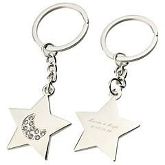 Cinkötvözet Kulcstartó kedvezmények-6 Darab / Set Kulcstartók Klasszikus téma Személyre szabott Ezüst