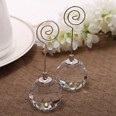 Crystal Iron Place Card Holders Standing Style PVC Bag Wedding Reception