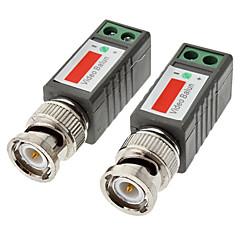 1チャネル受動CCTVのビデオトランシーバーB / W:600メートルカラー:400メートル10センチメートル