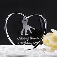 billige Kakedekorasjoner-Kakepynt Klassisk Tema Hjerter Krystall Bryllup jubileum med Gaveeske