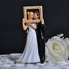 cheap Cake Toppers-Cake Topper Classic Theme Classic Couple with Flower Gift Box