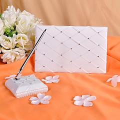チェック柄☆結婚式芳名帳とペンセット