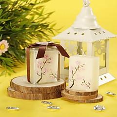 Bloemen Thema Kaars gunsten-4 Stuk / Set Kaarsen Niet-gepersonaliseerd Wit