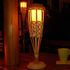 2PCS Gele leds op zonne-energie tuinlamp