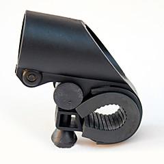 ガンシェイプブラックABS自転車懐中電灯クリップ(2.7センチメートル内ハンドル径に適応)