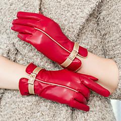 זול כפפות למסיבות-אורך פרק כף היד קצות אצבעות כפפה עור כפפות ערב\מסיבה כפפות חורף אביב סתיו חורף
