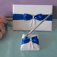 cheap Wedding Ceremony-Guest Book Pen Set Satin Beach Theme Classic ThemeWithBowknot