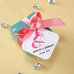 cheap Stickers, Labels & Tags-Personalized square tags - Butterfly Wing (set of 36) Wedding Favors